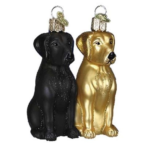 chocolate labrador retriever christmas ornament from old