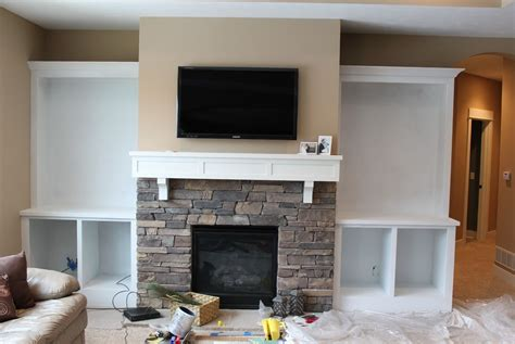 diy built in bookshelves around fireplace american hwy