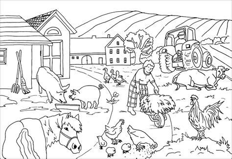scheune comic ausmalbilder bauernhof ausmalbilder f 252 r kinder