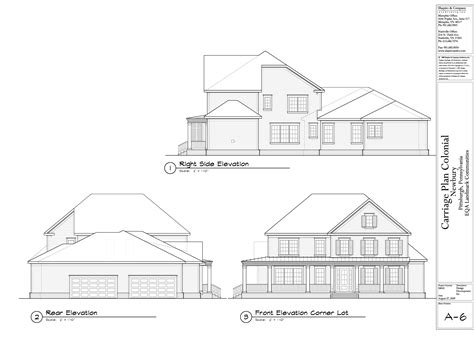 floor plan with elevations house designs newbury