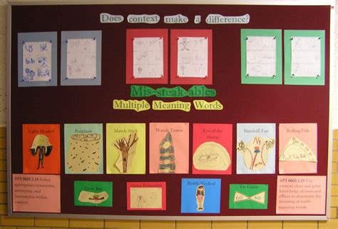 bulletin board template word multi meaning words bulletin board