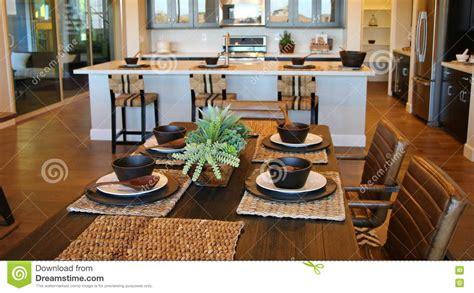 dining room table setting stock photo image of