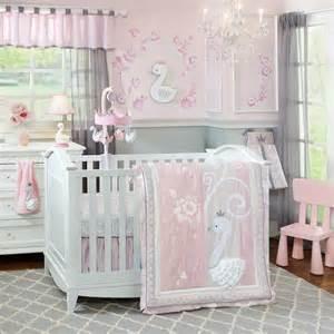 lambs and swan lake crib bedding and decor baby