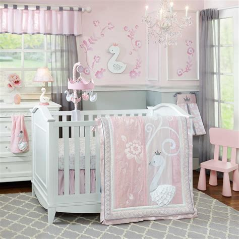 Lambs And Crib Bedding by Lambs And Swan Lake Crib Bedding And Decor Baby