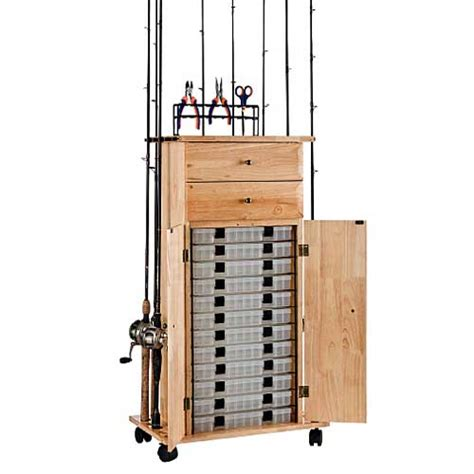 How To Build A Fishing Pole Rack by Organized Fishing Rod Rack Utility Box Cabinet West Marine