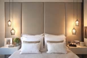 Hanging Wall Lights For Bedroom - love this stunning lights and the big headboard looks