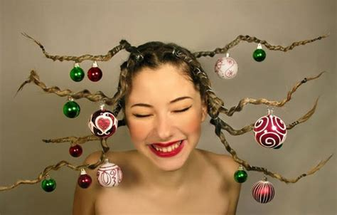 crazy holiday cute yet crazy christmas tree party hairstyles ideas