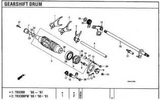 honda atv 300 4x4 engine diagram get free image about