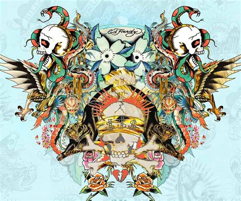 ed hardy skull tattoo designs ed hardy skull ed hardy cool tattoos tattoos