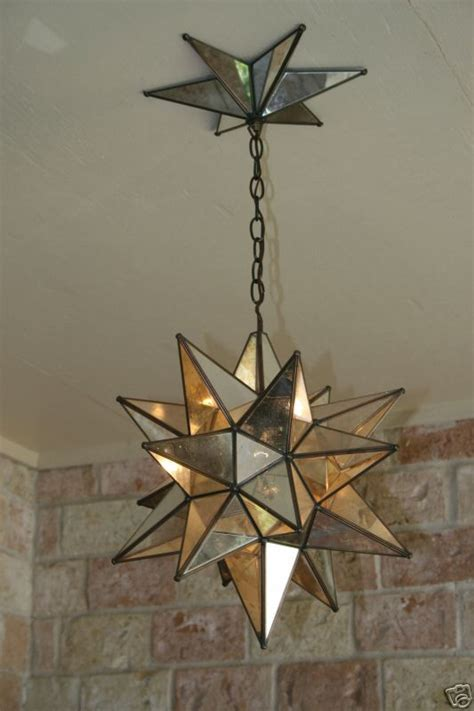 Moravian Star Mirror And Metal Canopy Canopy Lights Moravian Light