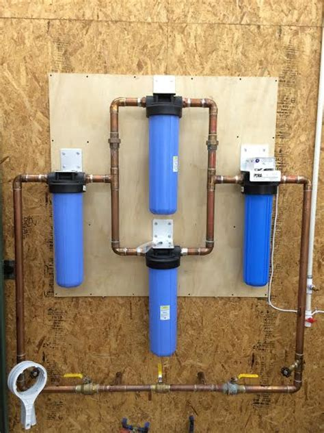 How To Install Whole House Water Filter by Water Gazette 187 Multi Filter Installations Provide