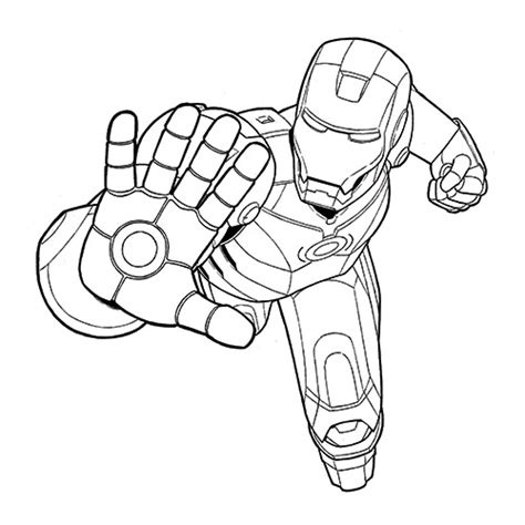 Iron Man Clipart Black And White Clipartxtras Iron Black And White Coloring Pages