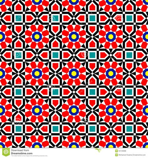 traditional islamic pattern vector vector islamic art pattern stock vector image 55145668