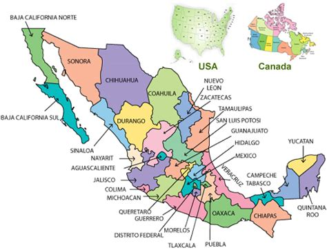 map of mexico provinces rv parks and cgrounds