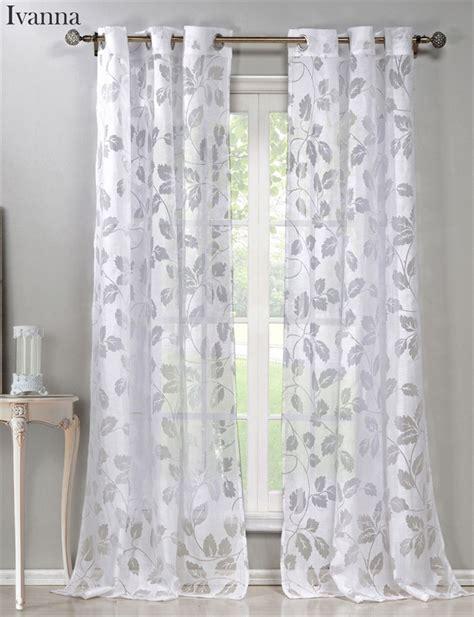 elegant sheer curtains elegant sheer burnout curtains set of 2 jane
