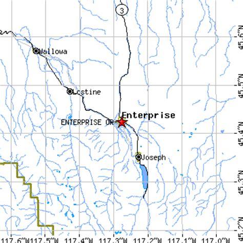 map of joseph oregon enterprise oregon or population data races housing