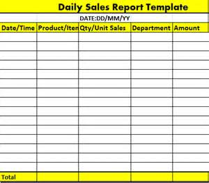 Daily Sales Report Sample Collection Of Free Report Formats And Examples