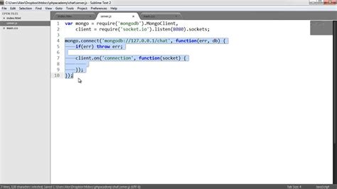 node js mongodb tutorial youtube node js real time chat inserting data part 4 7 youtube