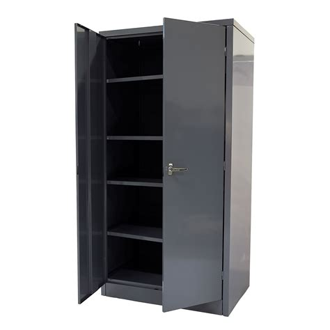 Metal Storage Cabinets With Doors International 72 Quot 2 Door Metal Cabinet