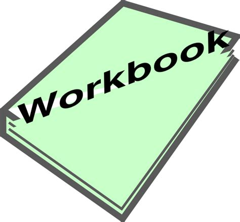 what works for at work a workbook books workbook pic green clip at clker vector clip