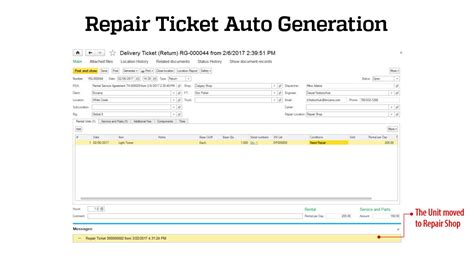 repair ticket template riger oilfield service and rental software rental
