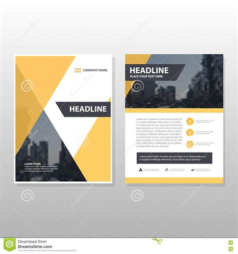 Layout Workbook Free Download | yellow triangle vector annual report leaflet brochure