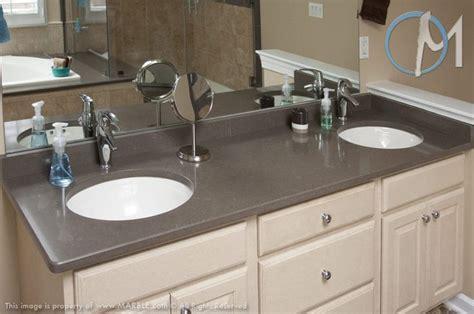 This two sink vanity uses utilizes caesarstone in lagos blue slick bathrooms pinterest