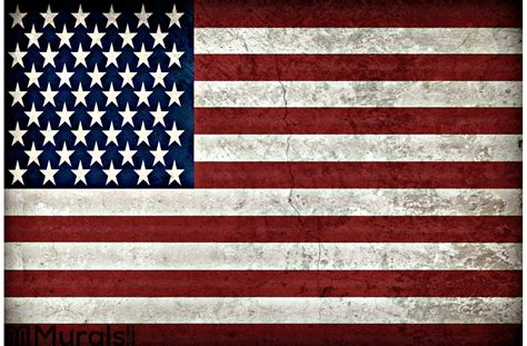 American Flag Rustic Wall
