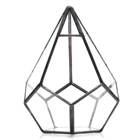 Terrarium Kaca Glass Terrariums Triangle succulent plant triangle greenhouse glass terrarium diy