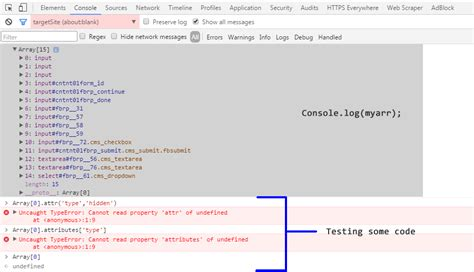 console log chrome javascript inspecting console log variables in chrome