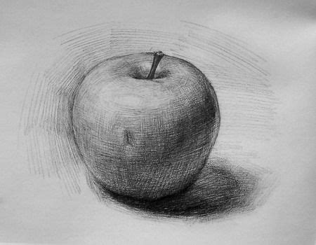 Sketches With Shading by How To Draw Shade Realistic Looking Apple Step Wise