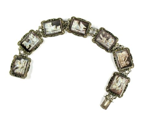 seven days cameo bracelet from annasvintagejewelry on ruby