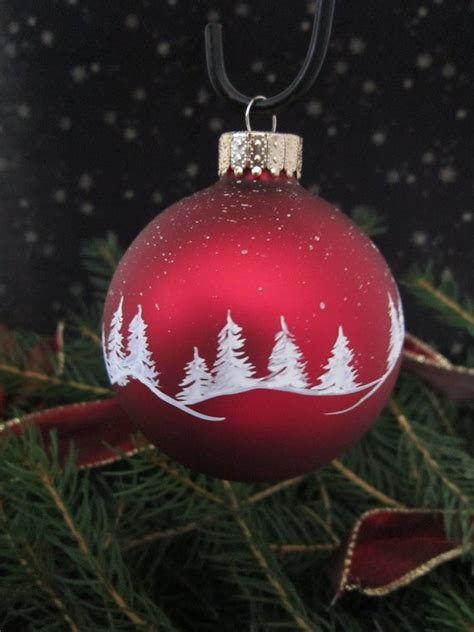painted christmas balls handpainted glass ornament
