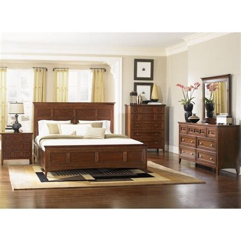 Magnussen Harrison Bedroom Furniture | magnussen harrison panel bed 3 piece bedroom set in cherry