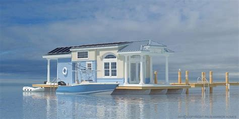 house boat model cavco park model floating home rendering tiny houses