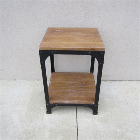 iron and wood side table iron and wood side table nadeau