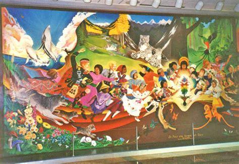 Halo Wall Mural anomalies at denver airport