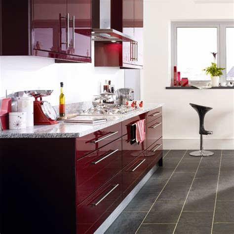 Kitchen Colour Designs Burgundy Kitchen Kitchen Colour Schemes 10 Ideas Housetohome Co Uk