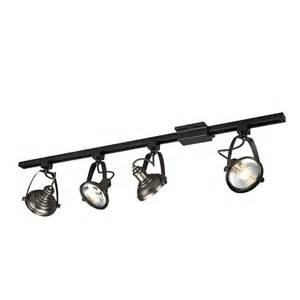 Home Depot Bathroom Ceiling Lights Shop Project Source 4 Light 42 In Antique Bronze Dimmable