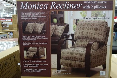 costco home decor costco deal synergy home furnishings monica recliner