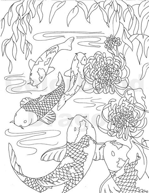 koi fish coloring pages fish coloring page coloring pages koi coloring page