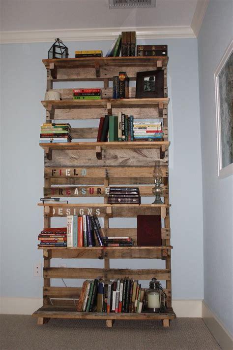 pallet bookshelf pallet