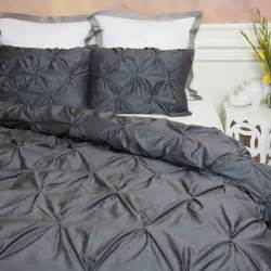 400 thread count pintuck duvet cover the valencia gray