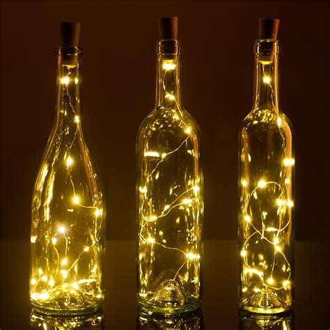 lights made from wine bottles set of 3 wine bottle cork lights 32inch 80cm 15 led