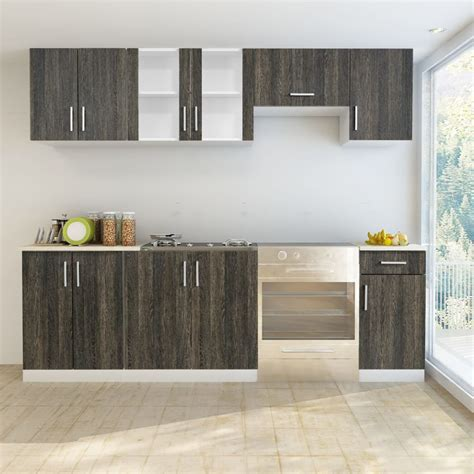 wenge kitchen cabinets vidaxl co uk wenge look kitchen cabinet unit 7 pcs