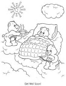 get well coloring pages care bears get well soon get well soon