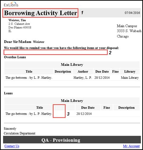 Reservation Letter For Items configuring alma letters ex libris knowledge center