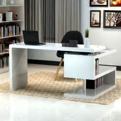 Modern Black Desk Modern White Desk Application For Home Office Amaza Design