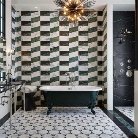 geometric patternwork bathroom inspiration