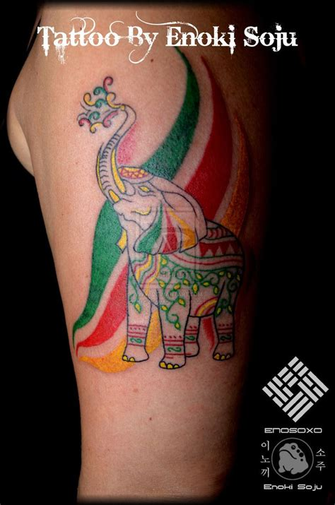 color elephant tattoo best 25 indian elephant tattoos ideas on